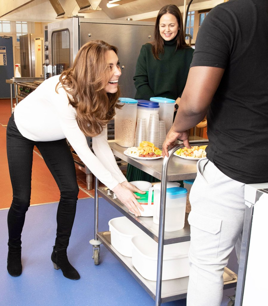 Duchess Kate Serves Breakfast at Preschool in Solo Royal Engagement