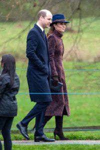 Duchess Kate and Prince William Attend Sunday Service at Church At Sandringham
