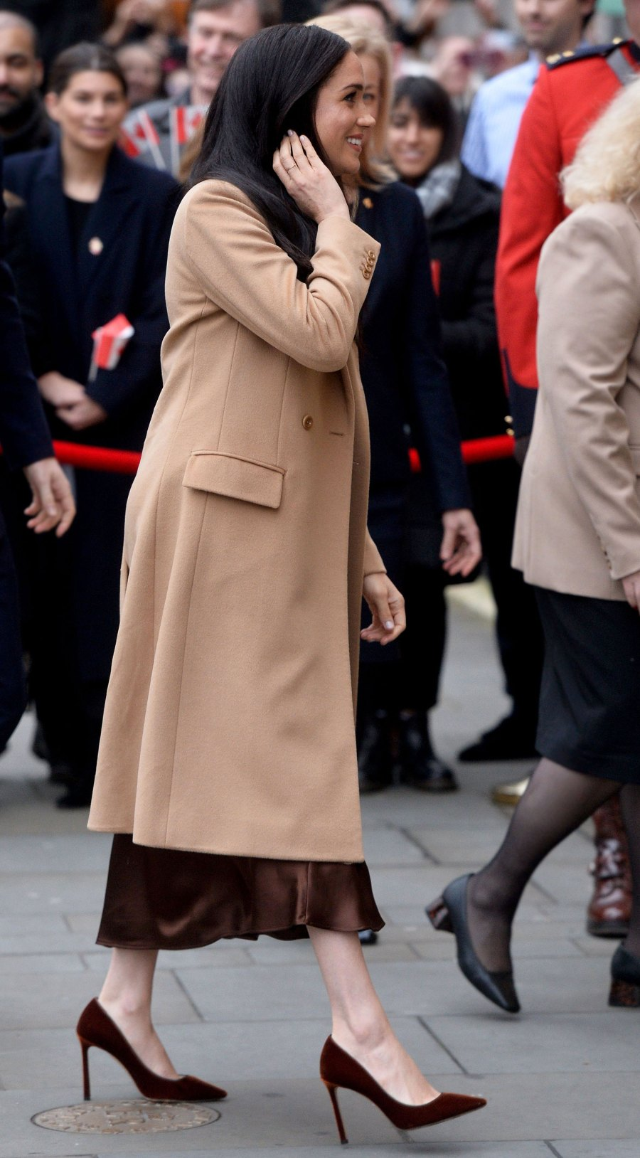 Duchess Meghan All-Brown Ensemble January 7, 2020