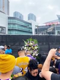Fans Mourn Kobe Bryant Outside the Staples Center 7