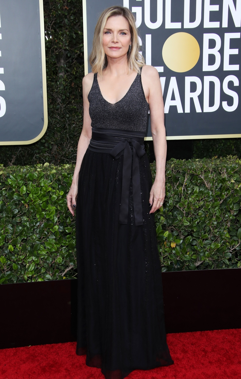 Image result for Golden Globes 2020 Michelle Pfeiffer dress