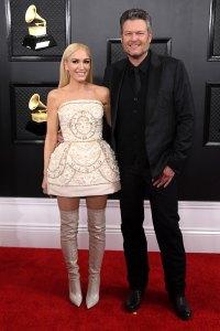 Gwen Stefani and Blake Shelton Red Carpet Grammys 2020