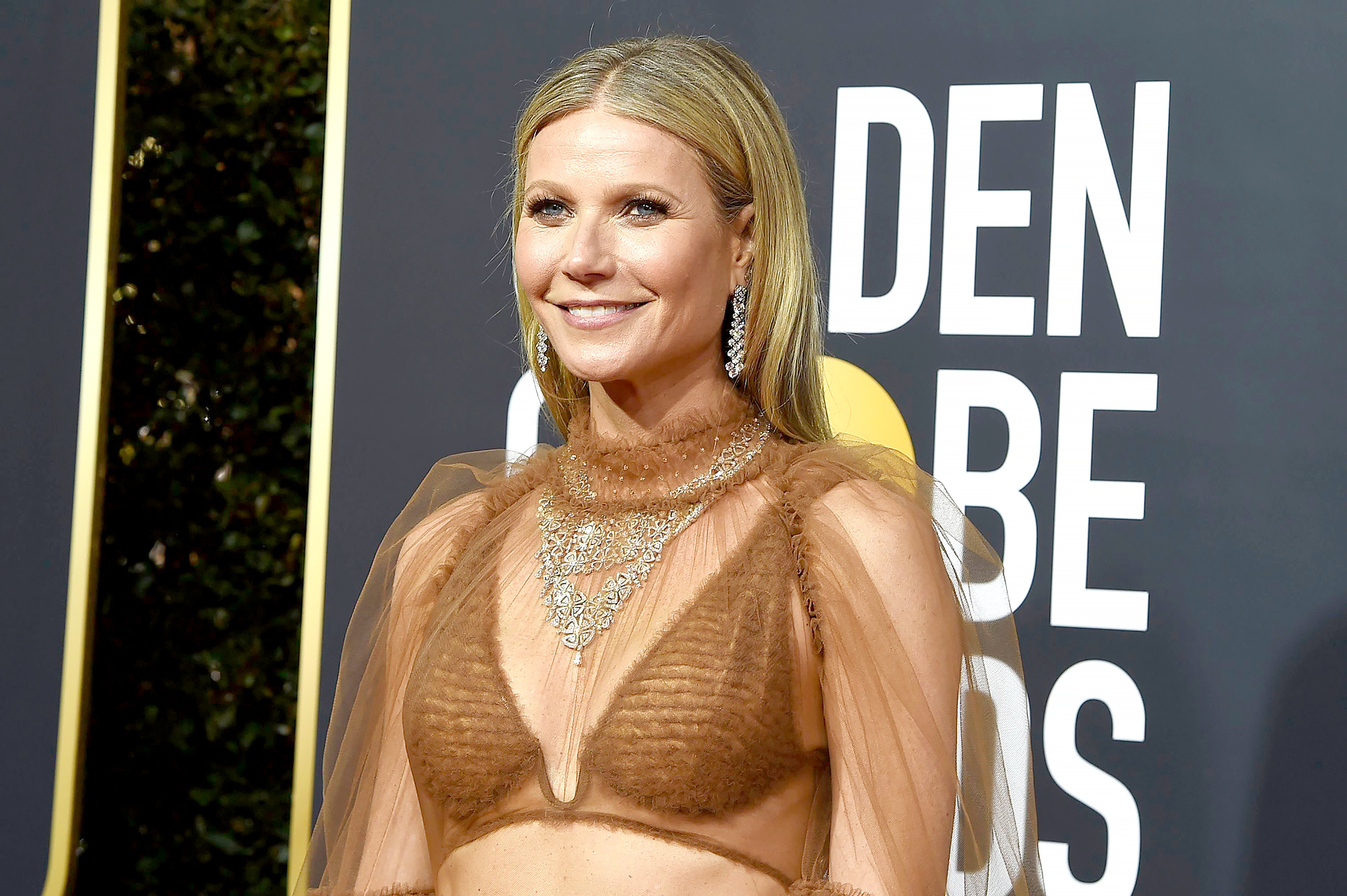 Gwyneth Paltrow Says She's 'Semi-Retired' While Supporting 'The Politician' at Golden Globes 2020