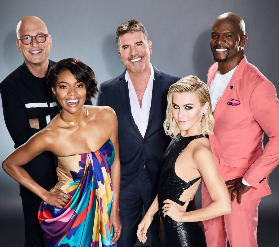 Howie Mandel, Gabrielle Union, Simon Cowell, Julianne Hough, and Terry Crews America's Got Talent