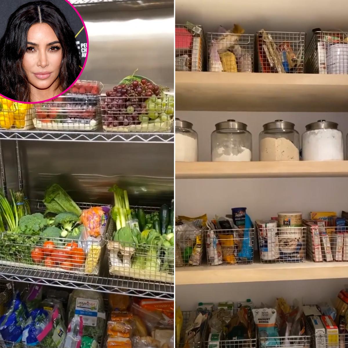 Kim Kardashian Shows Off Her Pantry