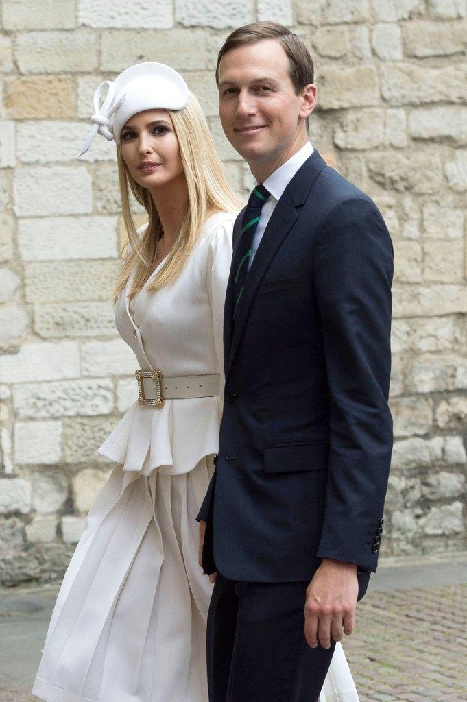 Ivanka Trump and Jared Kushner Westminster Abbey