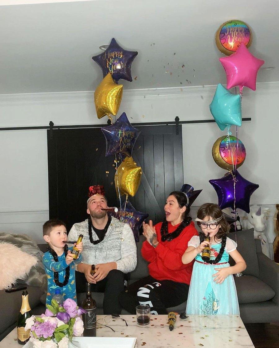 Jenni JWoww Farley Zach Clayton Carpinello Meilani and Greyson How the Stars Celebrated New Years Eve 2020