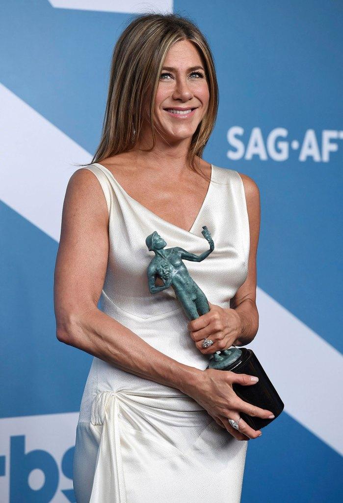 Jennifer Aniston Peer Presure Instagram Press Room SAG Awards 2020