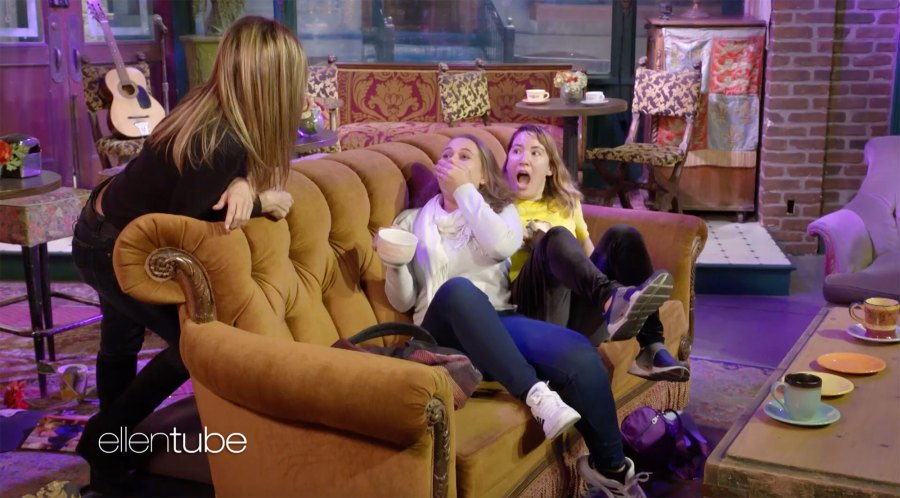 Jennifer Aniston Scares Friends Fans at Central Perk
