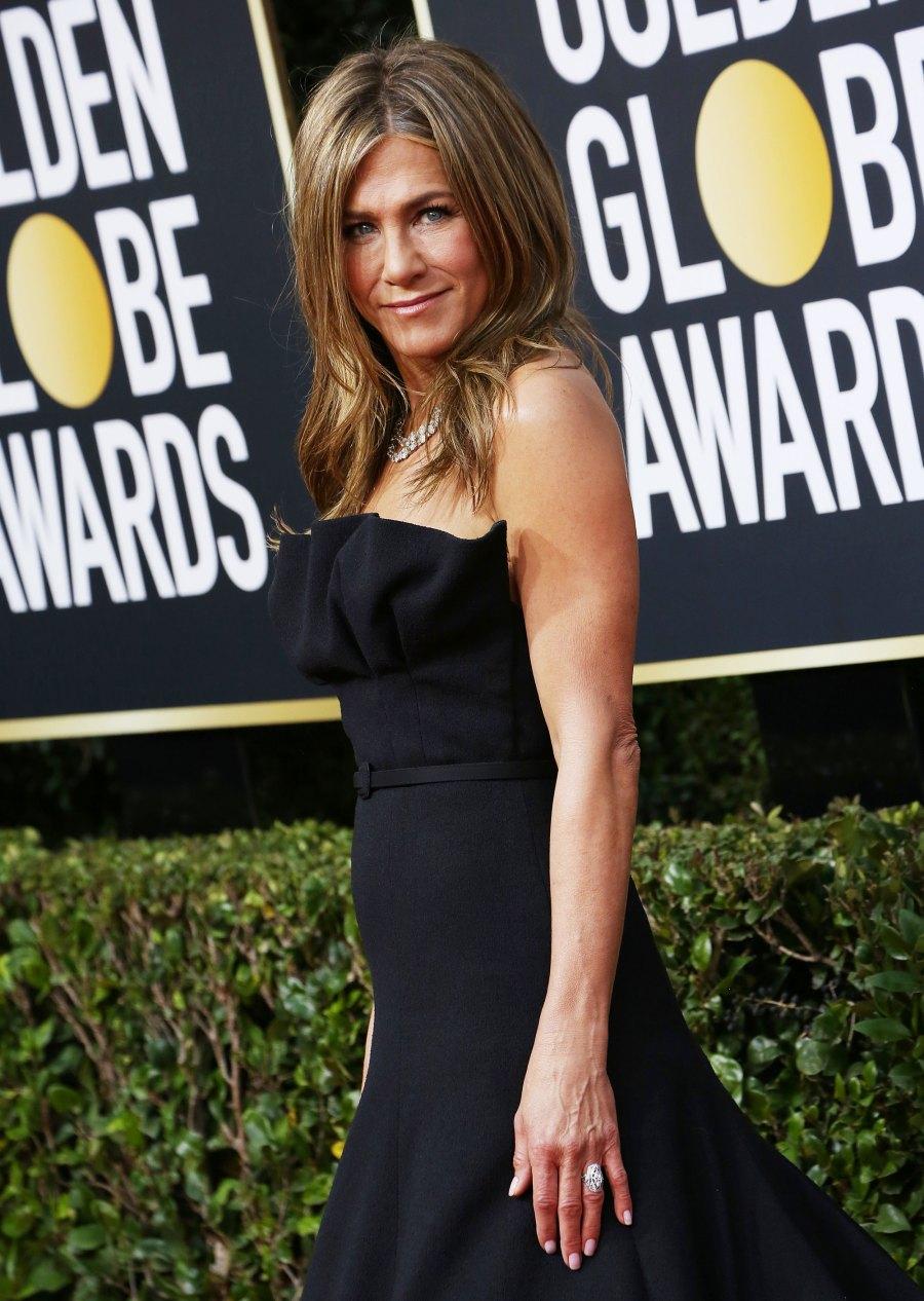 Jennifer Aniston Wearing Black Golden Globes 2020