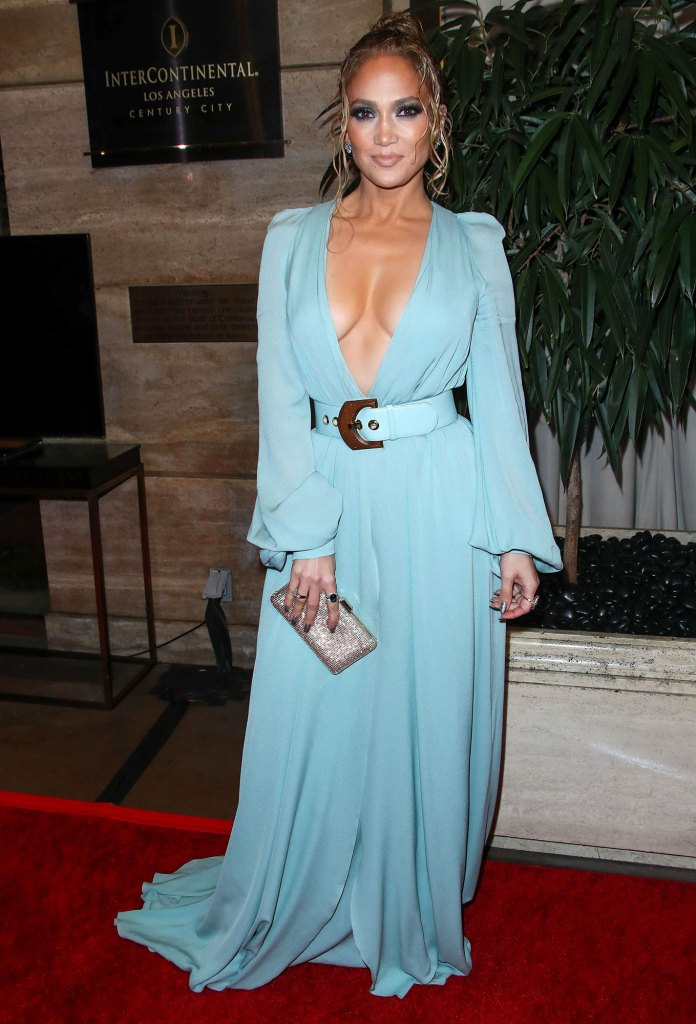 Jennifer Lopez LA Film Critics Awards Wearing Elie Saab