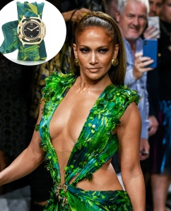 Jennifer Lopez Versace Jungle-Print Dress Watch