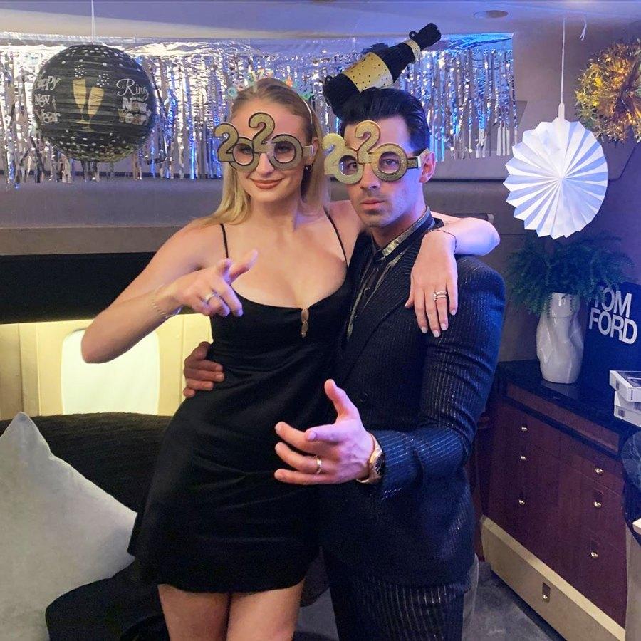 Sophie Turner and Joe Jonas How the Stars Celebrated New Years Eve 2020