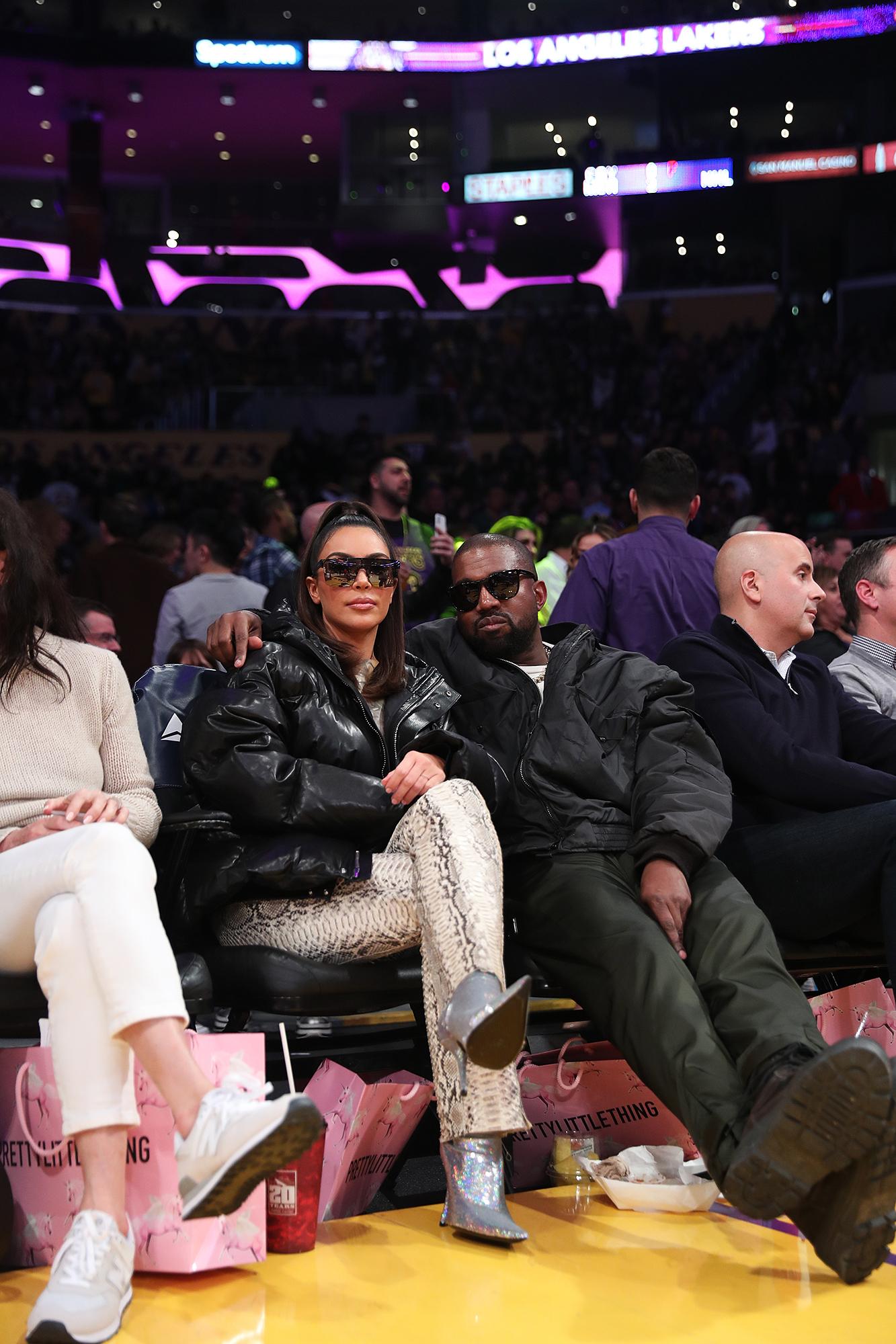 KIm-Kardashian-Kanye-West-Lakers