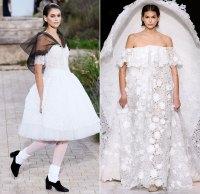 Kaia Gerber Bridal Couture Runway January 21, 2020
