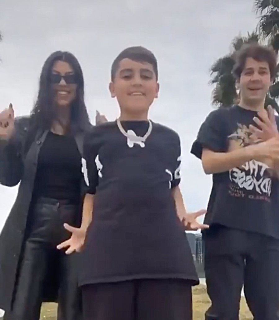 Kardashian Kids Mason Dances with Kourtney and David Dobrik