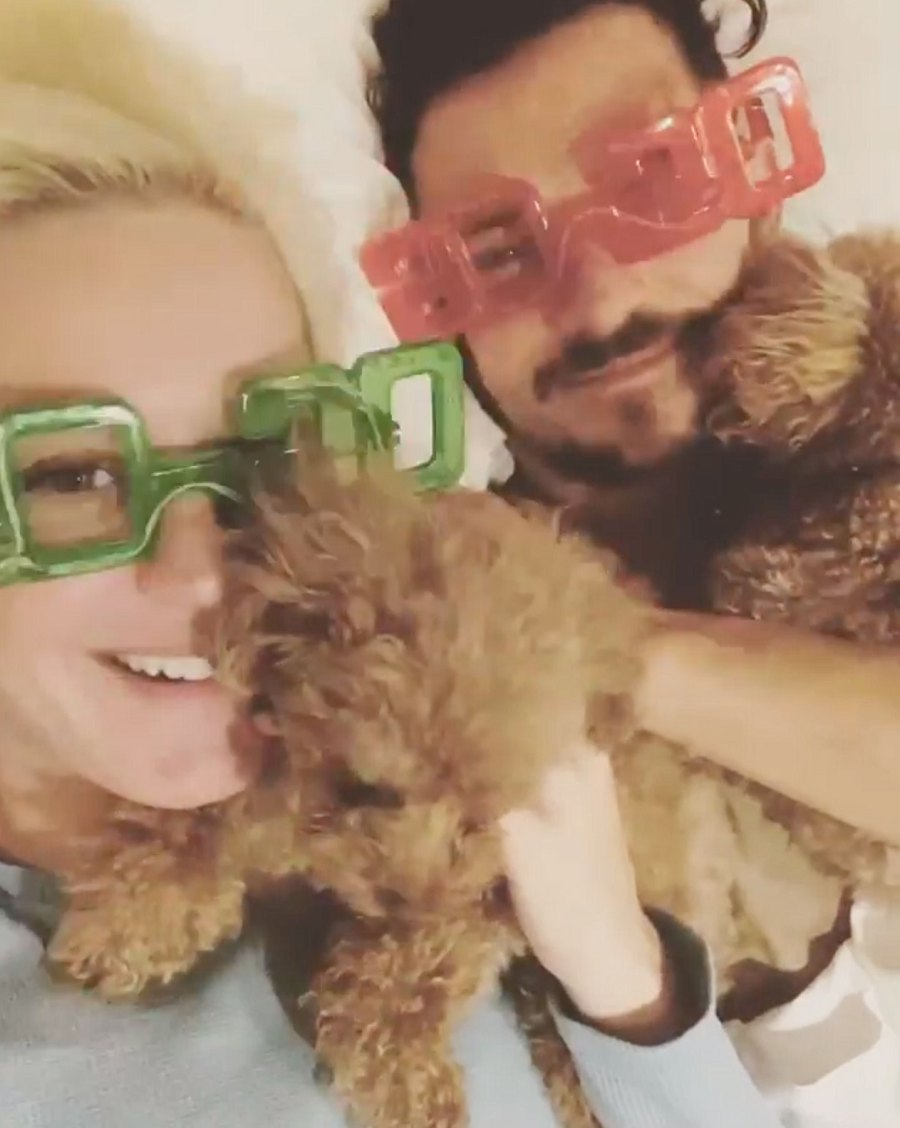 Katy Perry and Orlando Bloom with their Dogs How the Stars Celebrated New Years Eve 2020