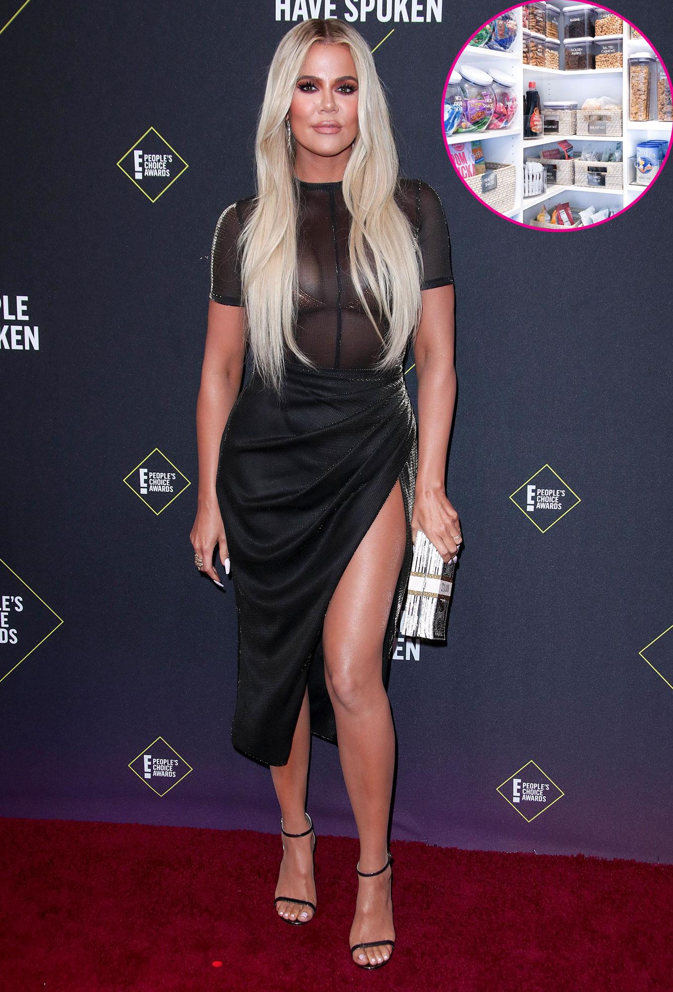 Khloe Kardashian Shows Off Organized Pantry Calls It Her Happy