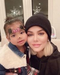 Khloe Kardashian and True Minnie Mouse