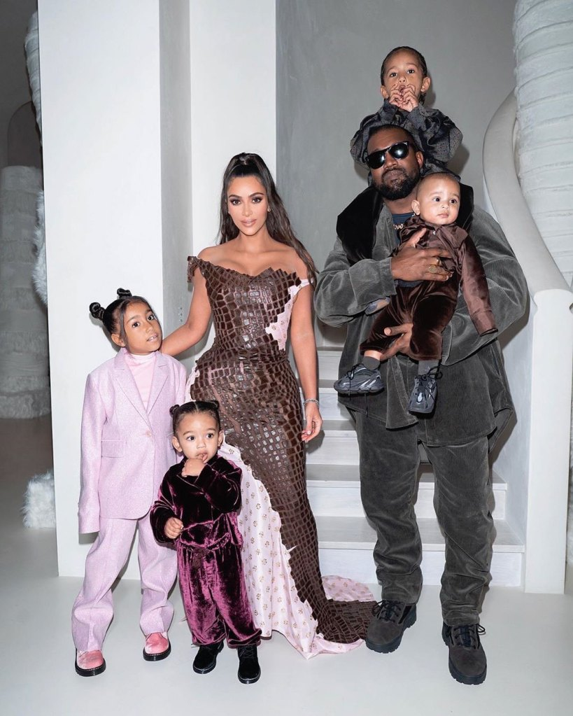 Kim Kardashian Is Very Honest With Her Kids About Her Work With Prison Reform Kanye West Saint West, Psalm West, North West, and Chicago West