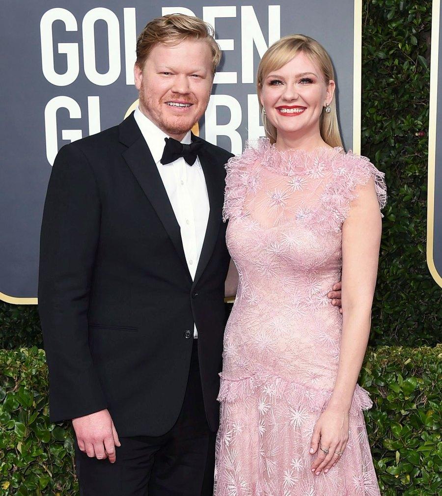 Kirsten Dunst and Jesse Plemons Make Rare Appearance at Golden Globes 2020