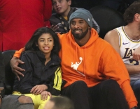 Kobe Bryant Close Bond With Daughter Gianna NBA Game Orange Hoodie
