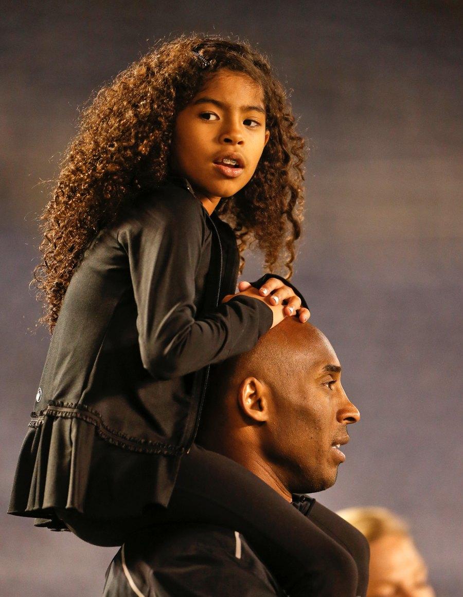 Gianna Bryant Sit on Shoulders Kobe Bryant Family Album