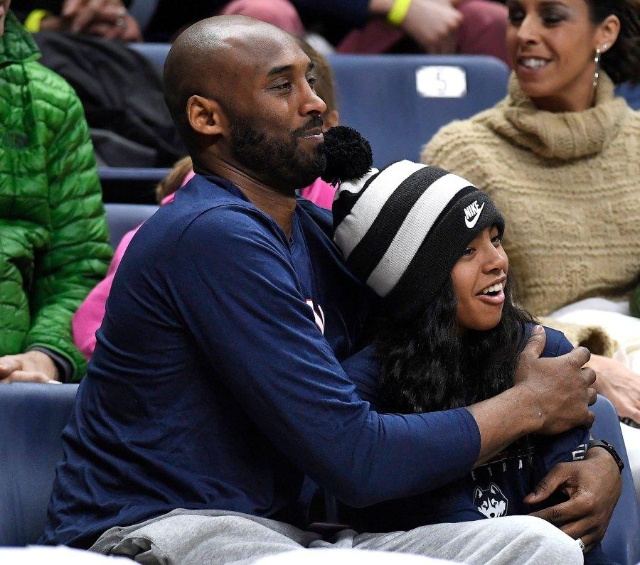 Kobe Bryant and Daughter Gianna NCAA Basketball Game