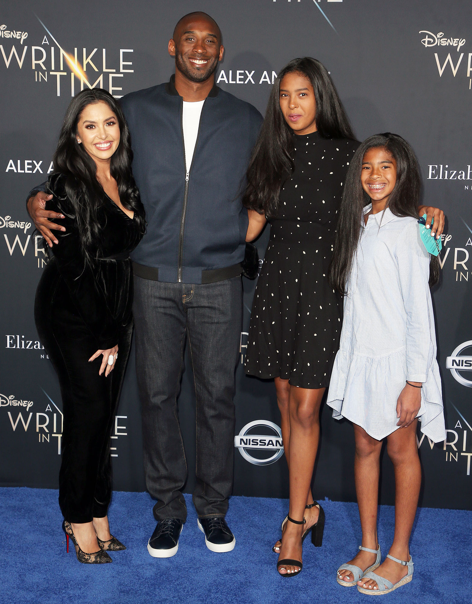 Kobe Bryant with Wife Vanessa and Daughters