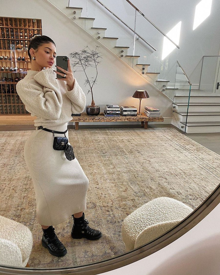 Kylie Jenner Shares Twinning Moment With Living Room Furniture