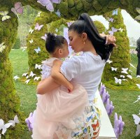 Kylie Jenner and Stormi Matching Butterfly Decor