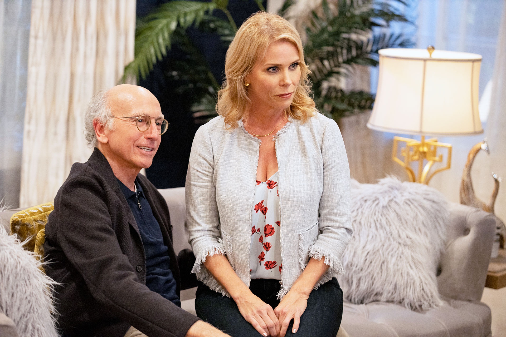 Larry David and Cheryl Hines in Curb Your Enthusiasm Cheryl Hines 25 Things You Don't Know About Me