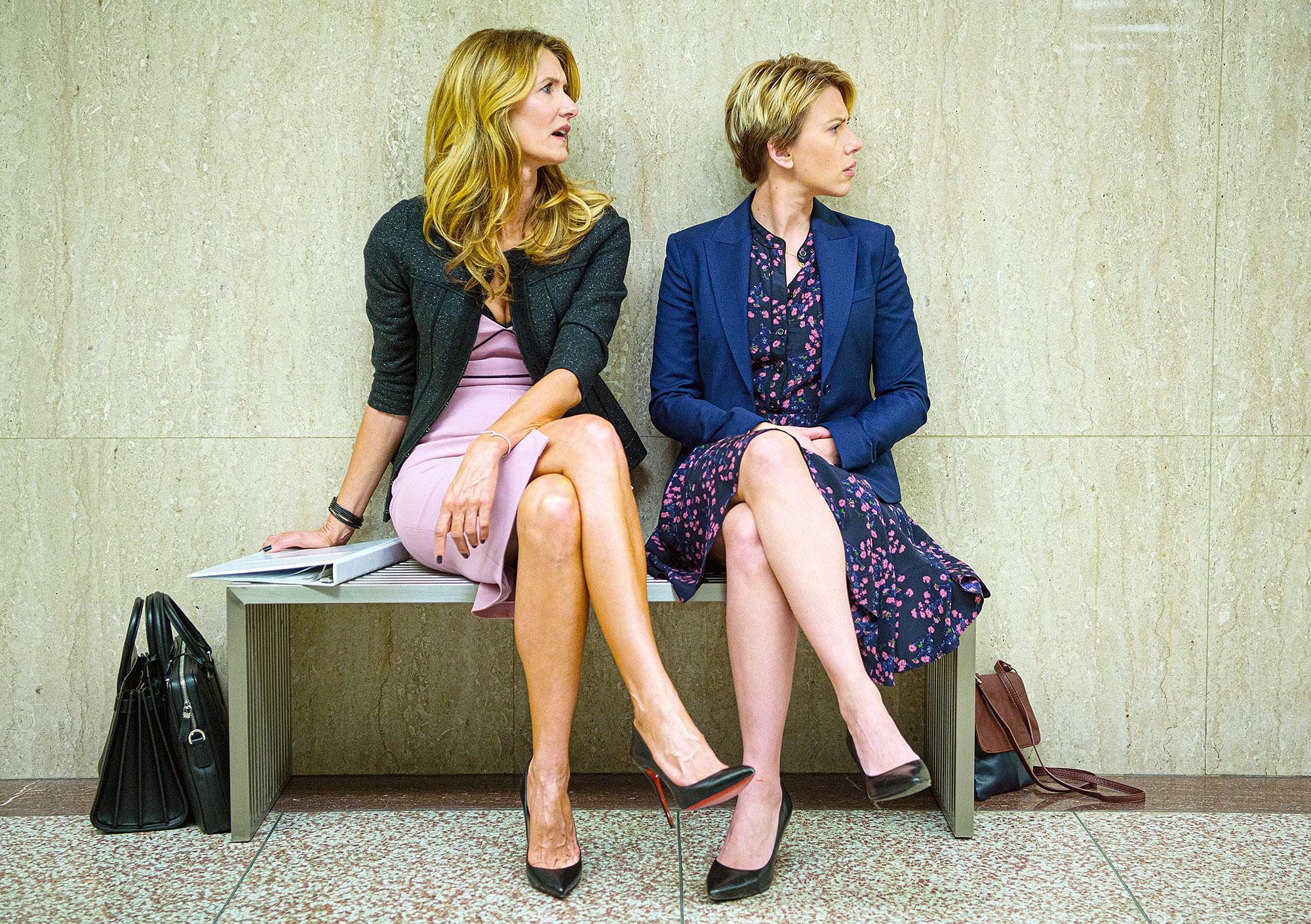 Laura Dern and Scarlett Johansson in Marriage Story Laura Dern reveals why she cried during Ellen Degeneres Golden Globes acceptance speech