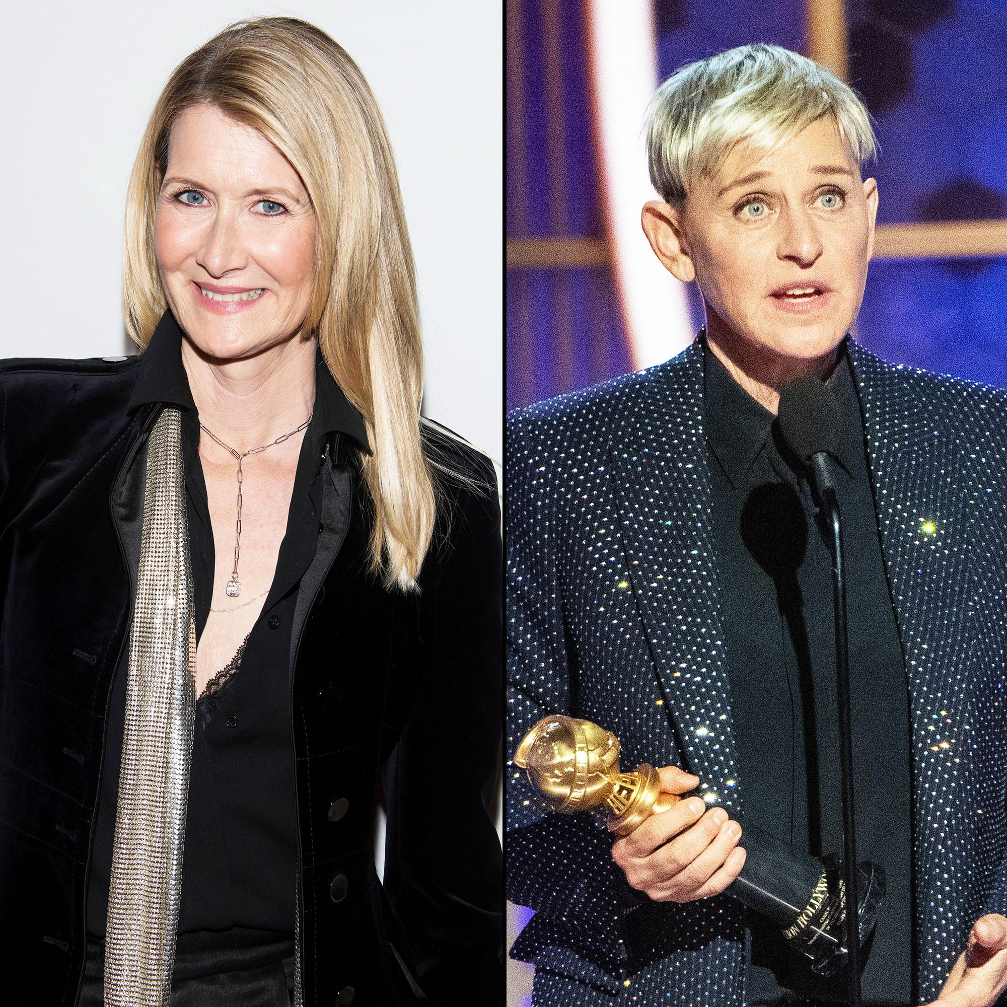 Laura Dern reveals why she cried during Ellen Degeneres Golden Globes acceptance speech