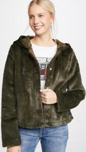 Line & Dot Andi Reversible Faux Fur Jacket