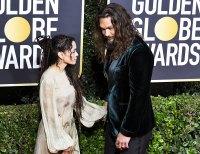 Lisa Bonet and Jason Momoa attend Golden Globes 2020
