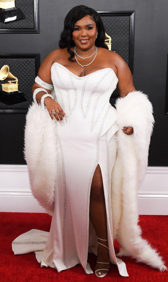 Lizzo Grammys 2020 Red Carpet Dress Diana Ross Inspiration