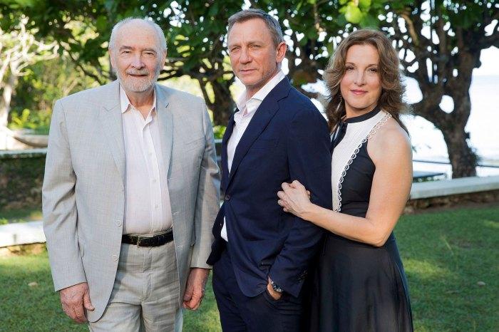 Michael G Wilson, Barbara Broccoli, Daniel Craig James Bond