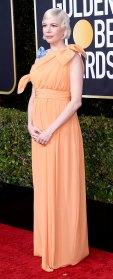Michelle Williams baby bump Golden Globes 2020