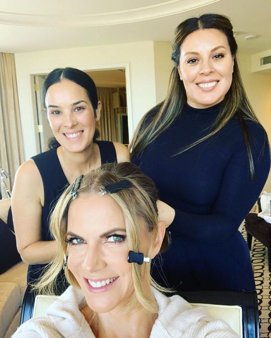 Natalie Morales See the Stars Getting Ready for the Golden Globes