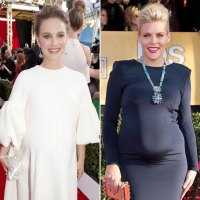 Natalie Portman and Busy Philipps Pregnant Stars Show Baby Bumps at SAG Awards