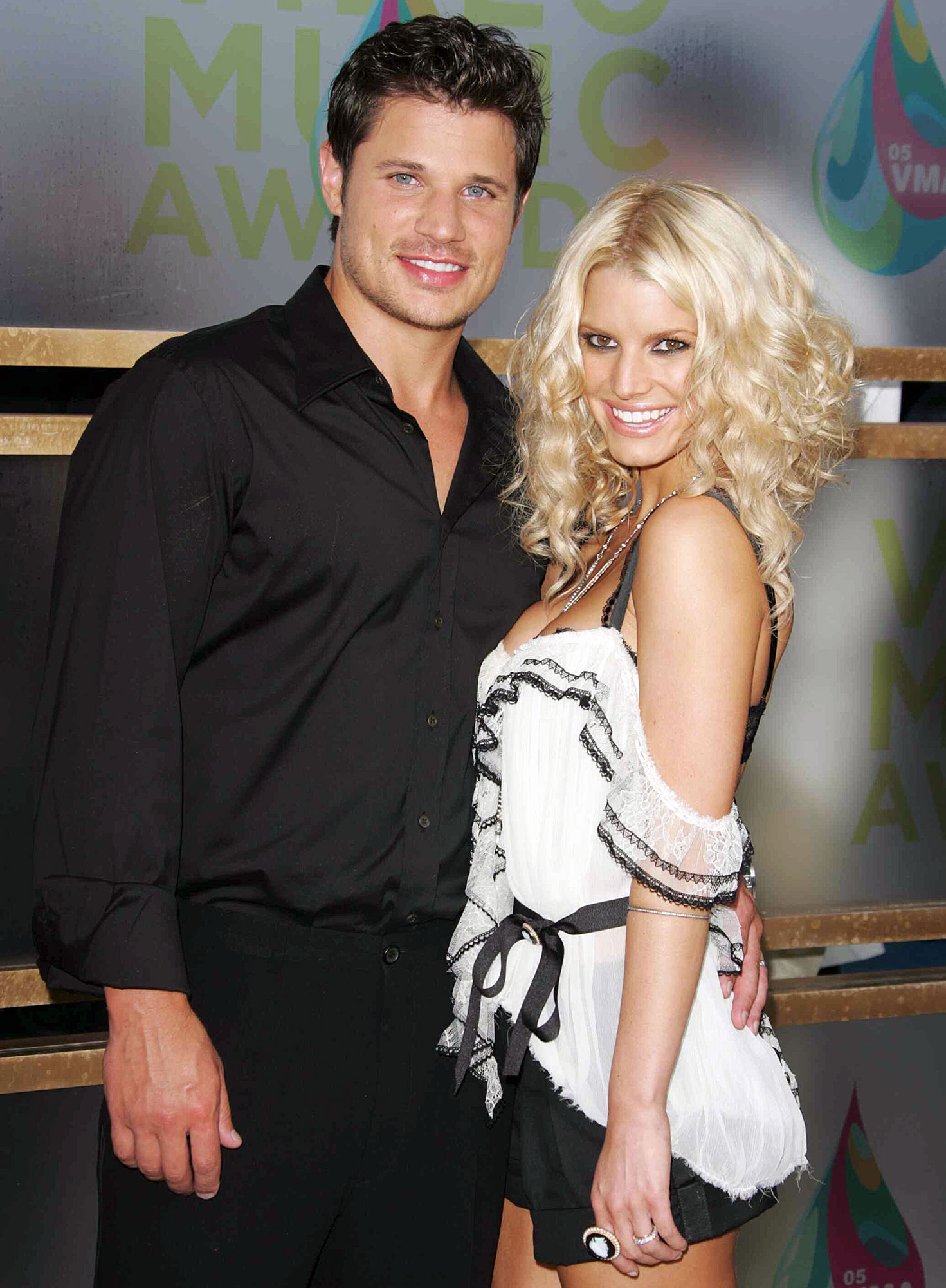 Nick Lachey and Jessica Simpson attend the MTV Video Music Awards in 2005 Jessica Simpson Looks Back on Her Failed Marriage to Nick Lachey