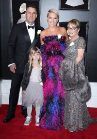 Pink, Carey Hart, Willow Sage Hart and Judith Moore Stars Who Brought Family Members to the Grammy Awards