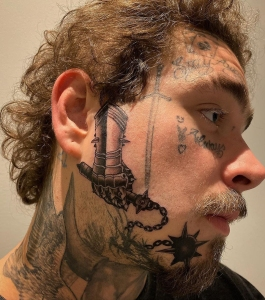 Post Malone New Face Tattoo