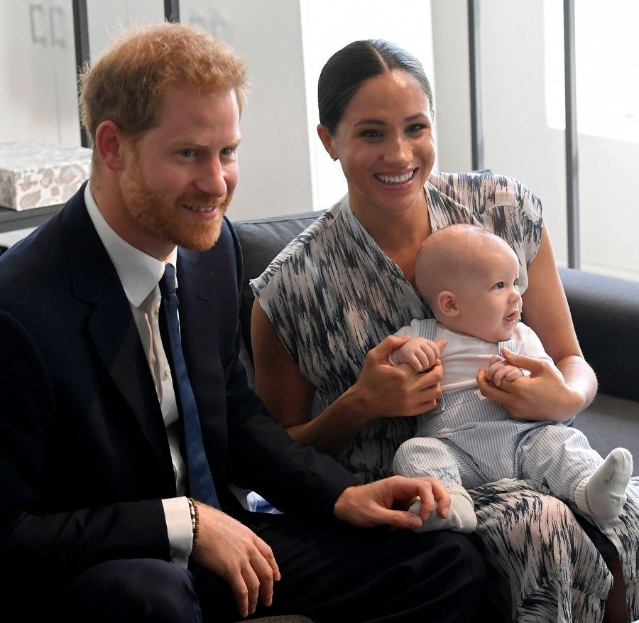 Prince Harry and Meghan Markle Duchess of Sussex Holding Archie