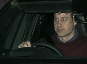 Prince William Seen Leaving Kensington Palace After Family Meeting