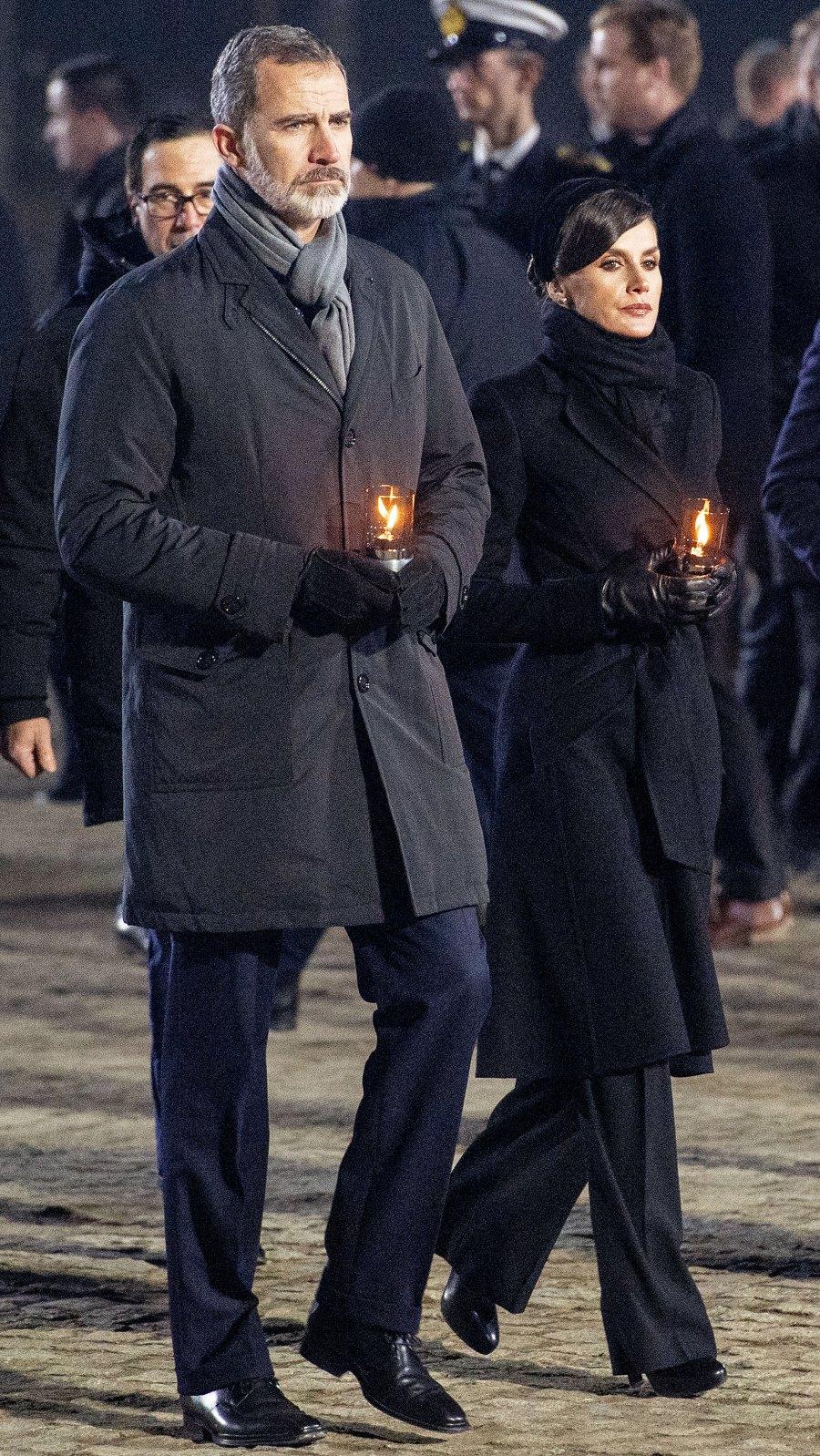 Queen Letizia Black Coat January 27, 2020