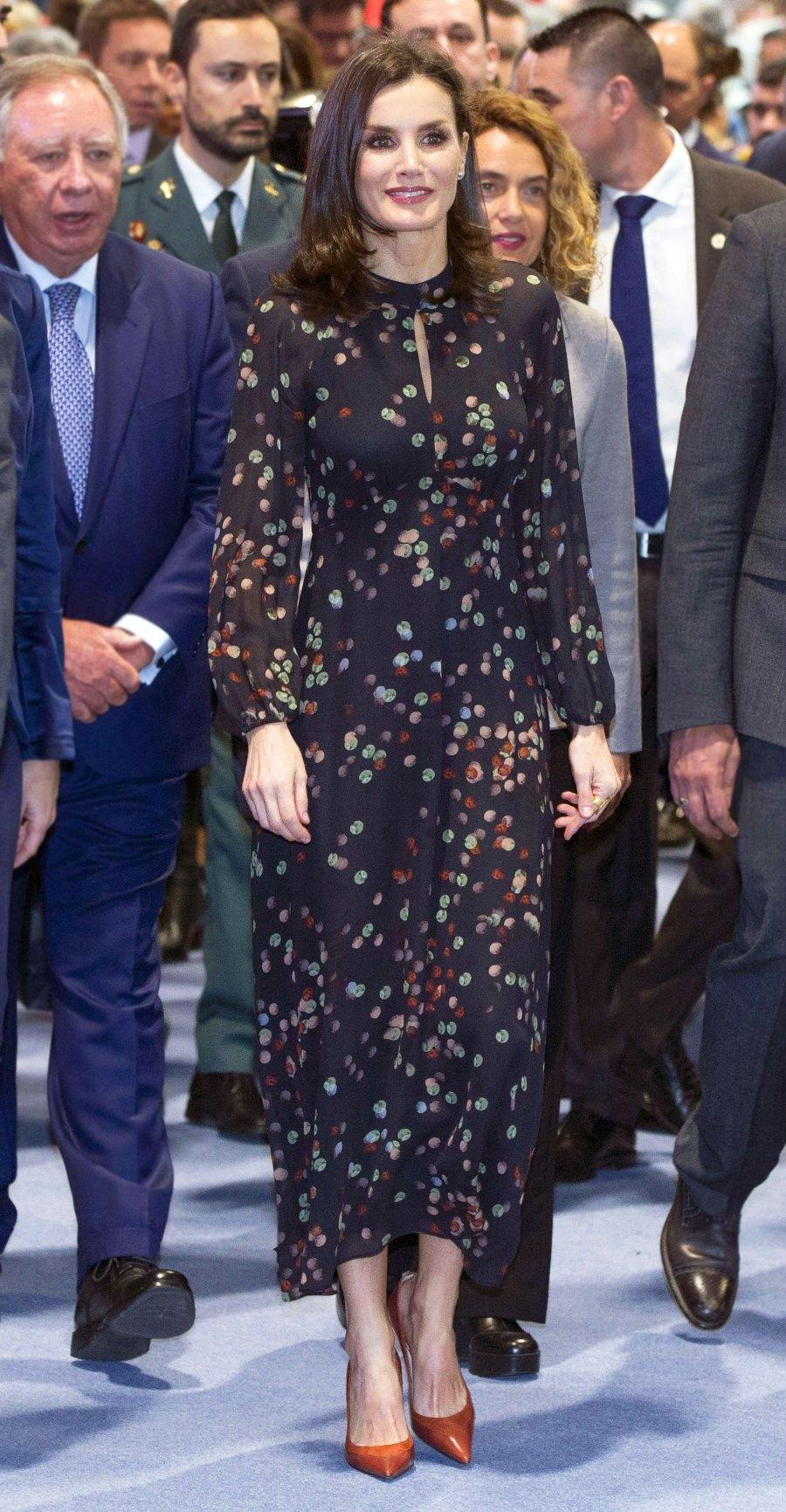 Queen Letizia Favorite Frock January 22, 2020