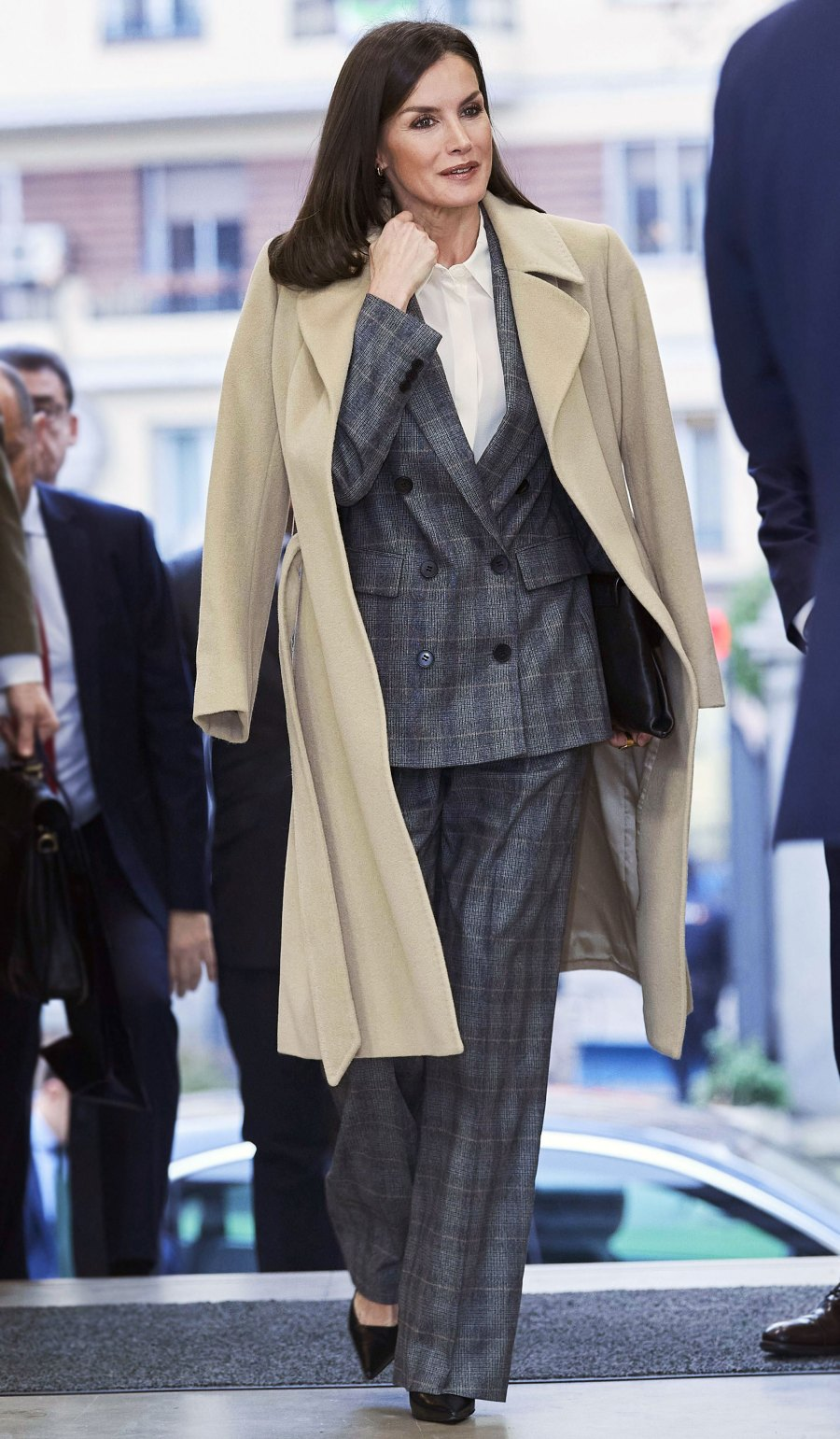 Queen Letizia Plaid Suit January 16, 2020