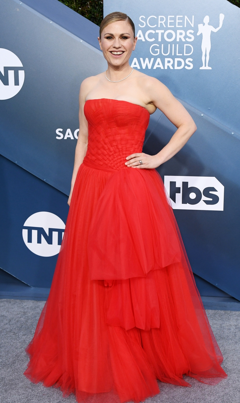 Image result for anna paquin red carpet sag